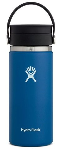 HYDROFLASK 16 OZ WIDE MOUTH WITH FLEX SIP LID- COBALT F21