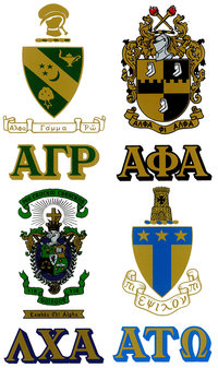 Peel & Stick Crest & Letters - Fraternity