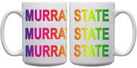 White Mug w/ Rainbow Font - 15oz