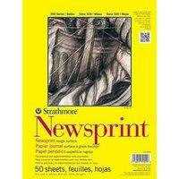 STRATHMORE NEWSPRINT PAD- 9X12