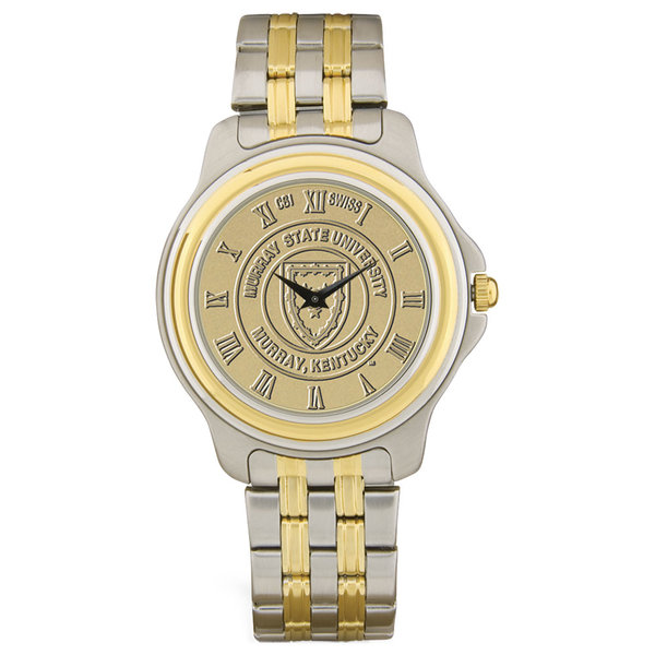 Two Tone Stainless Steel Watch With Matching Bracelet Gold Seal