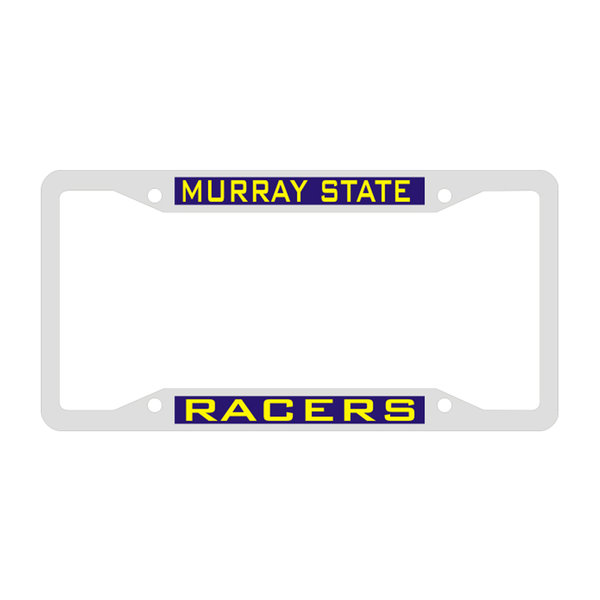 NAVY/ GOLD LICENSE PLATE FRAME - RACERS | Murray State University